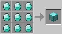 craft diamondblock Minecraft Tüm Eşyaların Tarifi