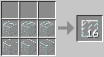 craft glasspane Minecraft Tüm Eşyaların Tarifi