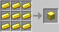 craft goldblock Minecraft Tüm Eşyaların Tarifi