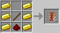craft poweredrail Minecraft Tüm Eşyaların Tarifi