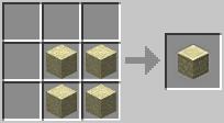 craft sandstoneblock Minecraft Tüm Eşyaların Tarifi
