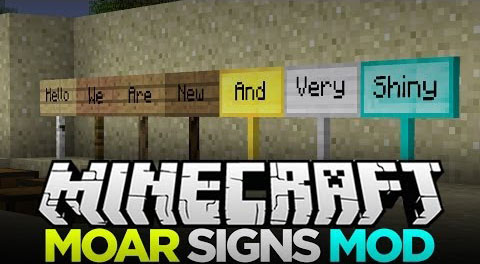 MoarSigns Mod MoarSigns Modu [1.7.2/1.6.4]