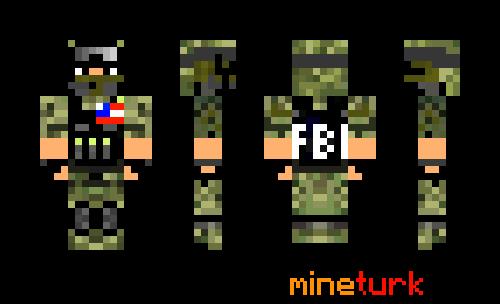 American FBI Agent Soilder Skin